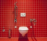 おむつ替えシートとトイレの間(施設設備担当者様へのお願い)