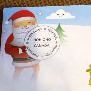 カナダのサンタさんからお返事きたよ